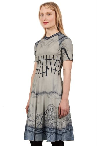Print jersey sport dress - manhattan wall (dress)