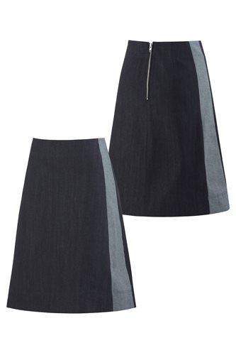 Organic jeans skirt (skirt)