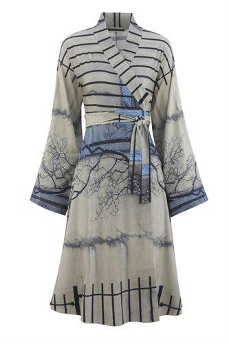 Print jersey wrap dress - manhattan wall (dress)