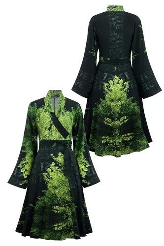 Print jersey wrap dress - manhattan green (dress)