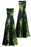 Print jersey long dress - manhattan green (dress)