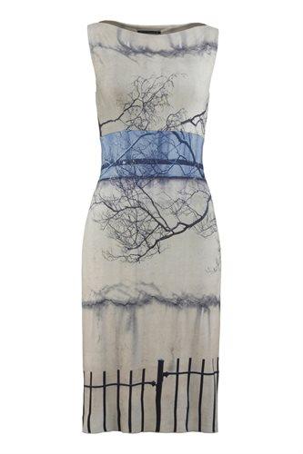 Print jersey slim dress - manhattan wall (dress)