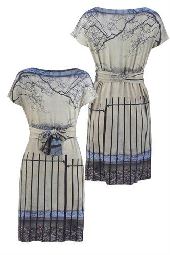Print jersey square dress - manhattan wall (dress)