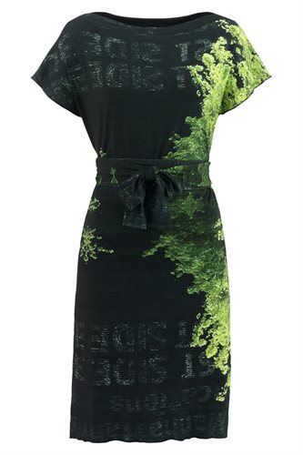 Print jersey square dress - manhattan green (dress)