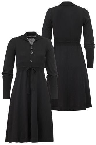 Classic Button dress - black (dress)