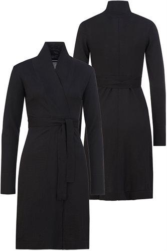 Classic Slim Wrap dress - black (dress)