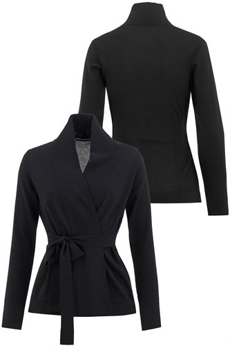 Classic Wide Wrap jacket - black (jacket/cardigan)