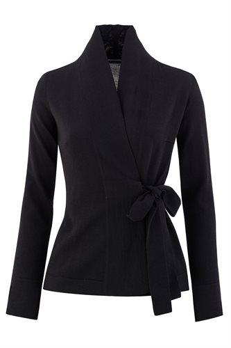 Classic Slim Wrap jacket - black (jacket/cardigan)