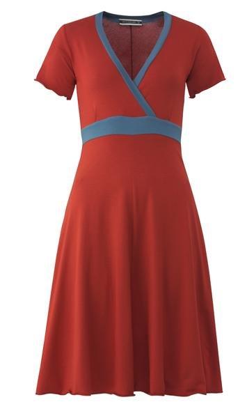 trille sport dress - tomato /blue (kjole)