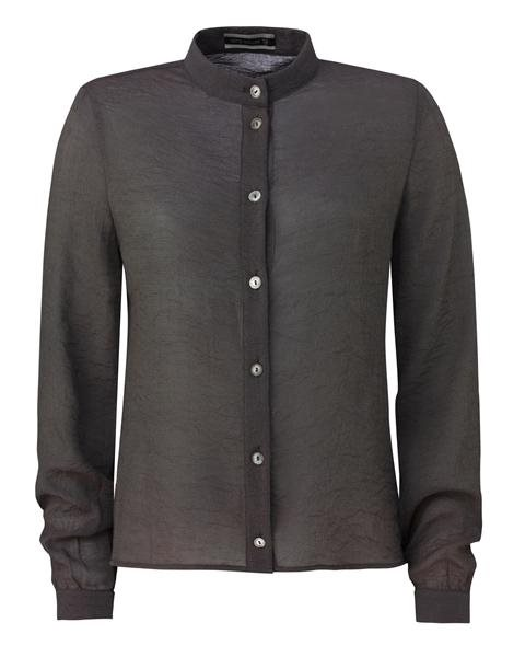 wrinkle shirt - grey (skjorte)